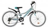 Велосипед NOVATRACK 24' хардтейл, ALICE тормоз V-brake, голубой 6 ск., 12' 24 SH 6SV.ALICE.12 BL7