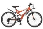 Велосипед STINGER 24' двухподвес, VERSUS оранжевый, 16,5' 24 SFV.VERSUS.16 OR 7