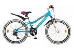 Велосипед 24' рама женская, алюминий NOVATRACK NOVARA аквамарин, 18ск., 12' 24AHV NOVARA.12BL8(19-З)