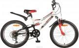 Велосипед 20' двухподвес NOVATRACK SHARK белый, 6 ск. 20 SS 6V.SHARK.WT 20