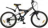 Велосипед 20' двухподвес NOVATRACK DART черный, 6 ск. 20 SS 6V.DART.BK 20