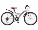 Велосипед NOVATRACK 24' хардтейл, RACER белый, 6ск., 10' 24 SH6V.RACER.10 WT8