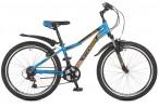 Велосипед 24' хардтейл, рама алюминий STINGER BOXXER синий, 18 ск., 14' 24 AHV.BOXX.14 BL 8 (20)