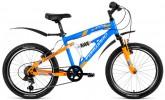 Велосипед 20' двухподвес FORWARD BENFICA 20 синий/желтый, 6 ск., 14' RBKW8JN06015 (20)