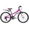 Велосипед 24' хардтейл, рама алюм. NOVATRACK KATRINA V-brak, фиолет. 21ск., 10' 24AHV.KATRINA.10VL9