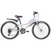 Велосипед 24' рама женская NOVATRACK ALICE тормоз V-brake, белый, 6 ск., 10' 24 SH 6SV.ALICE.10 WT21