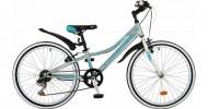 Велосипед 24' рама женская NOVATRACK ALICE тормоз V-brake, бирюза 6 ск., 12' 24 SH 6SV.ALICE.12 BL9