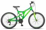 Велосипед 24' двухподвес STELS MUSTANG V неоновый-зеленый, 21 ск., 16' V020