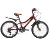 Велосипед 20' хардтейл, рама алюминий NOVATRACK ACTION красный, 12 ск. 20 AH 12 V.ACTION.RD 9