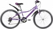 Велосипед 24' рама женская NOVATRACK ALICE тормоз V-brake, лиловый, 6 ск., 10' 24SH6SV.ALICE.10LC21