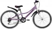 Велосипед 24' рама женская NOVATRACK ALICE тормоз V-brake, лиловый, 6 ск., 12' 24SH6SV.ALICE.12LC21