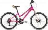 Велосипед 24' рама женская, алюм. STINGER LAGUNA D диск, розовый, 12' 24AHD.LAGUNAD.12PK9