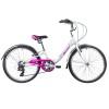 Велосипед 24' хардтейл, рама алюминий NOVATRACK ANCONA белый, V-brake, 7ск.,12' 24 AH7V.ANCONA.12WT9