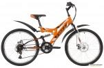 Велосипед 24' двухподвес FOXX FREELANDER диск, оранжевый, 14' 24 SFD.FREELD.14 OR 9