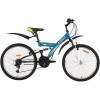 Велосипед 24' двухподвес FOXX Attack синий, 14' 24 SFV.ATTAC.14 BL 9