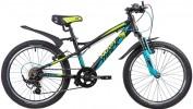 Велосипед 20' хардтейл, рама алюминий NOVATRACK TORNADO чёрный, 7-ск. 20AH7V.TORNADO.BK9