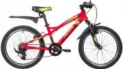 Велосипед 20' хардтейл, рама алюминий NOVATRACK TORNADO красный, 7 ск. 20AH7V.TORNADO.RD9