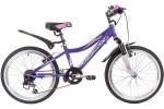 Велосипед 20' NOVATRACK NOVARA, фиолетовый, алюм., 6-скор, V-brake 20AH6V.NOVARA.VL9