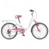 Велосипед 20' рама женская, алюминий NOVATRACK BUTTERFLY белый-розовый, 6 ск., 20SH6V.BUTTERFLY.PN9