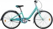 Велосипед 24' рама женская, алюминий NOVATRACK ANCONA зелёный, 3 ск., 10' 24AH3V.ANCONA.10GN9