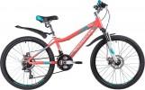 Велосипед 24' рама женская, алюминий NOVATRACK NOVARA диск, коралл, 18 ск., 11' 24AHD.NOVARA.11CRL9