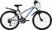 Велосипед 24' хардтейл, рама алюминий NOVATRACK LUMEN серебристый, 18 ск., 13' 24AHV.LUMEN.13SL9