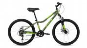 Велосипед 24' хардтейл, рама женская, алюм. ALTAIR AL 24 D диск, 7 ск., зеленый, 12' RBKN91647005
