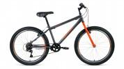 Велосипед 24' хардтейл ALTAIR MTB HT 24 1.0 серый/оранжевый, 6 ск., 14' RBKT0MN46004