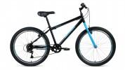 Велосипед 24' хардтейл ALTAIR MTB HT 24 1.0 черный/голубой, 6 ск., 14' RBKT0MN46002