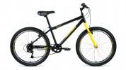 Велосипед 24' хардтейл ALTAIR MTB HT 24 1.0 черный/желтый, 6 ск., 14' RBKT0MN46003