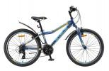 Велосипед 24' хардтейл STELS NAVIGATOR-410 V темно-синий/желтый 21 ск., 13' V010