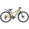 Велосипед 24' рама женская, алюминий NOVATRACK PRIME  диск, зол. металлик, 18 ск., 13'