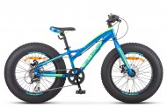 Велосипед 20' рама алюминий STELS Aggressor MD диск, неоновый-синий 2019, 7 ск., 11' V010 LU092512