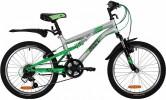 Велосипед 20' двухподвес NOVATRACK TITANIUM серебристый, 12 ск. 20SS12V.TITANIUM.SL2