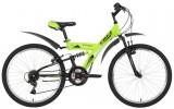Велосипед 24' двухподвес FOXX Attack зеленый, 14' 24SFV.ATTAC.14GN1 (А21)