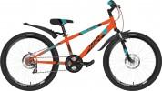 Велосипед 24' хардтейл NOVATRACK EXTREME диск оранж. 12', 6ск. 24SH6SD.EXTREME.12OR21 (А21)
