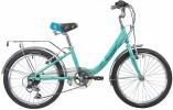 Велосипед 24' рама алюминий NOVATRACK ANCONA знлёный, 3 ск., 12' 24AH3V.ANCONA.12GN20