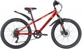 Велосипед 24' хардтейл NOVATRACK EXTREME диск красный, 6 ск., 12' 24SH6SD.EXTREME.12RD21 (А21)