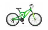 Велосипед 24' двухподвес STELS MUSTANG MD Неоновый-зелёный 2021, 16'  V010 LU088320