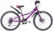 Велосипед 20' стальная рама NOVATRACK ALICE розовый, 6 скор., дисковый тормоз 20SH6D.ALICE.PN21