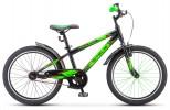 Велосипед 20' хардтейл STELS PILOT-200 Gent Чёрный/салатовый 2021, 11' Z010 LU088668