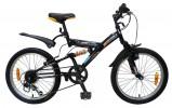 Велосипед 16' двухподвес NOVATRACK DART черный, 5 ск. 16 SS 5V.DART.BK 6