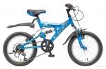 Велосипед NOVATRACK 16' двухподвес, тормоз V-брейк, FALCON голубой, 1 ск. 16SS 1V.SKYLINE. BL 5