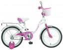 Велосипед NOVATRACK 20' BUTTERFLY белый-розовый 207 BUTTERFLY.WPR 7+ корзина