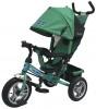 Велосипед 3х-колесный PILOT 12'/10' тормоз, накл. спин., сумка, зеленый PTA3G