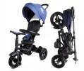 Велосипед 3х-колесный складной RITO Q Play 10'/8' св. ход колеса и руля,накл. спинка,синий QA6J