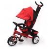 Велосипед 3х-колесный PIONER 10'/8' тормоз, накл. спинка, сумка, красный P1R