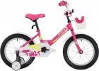 Велосипед 16' NOVATRACK TWIST розовый, + корзина 161 TWIST.PN 20