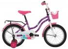 Велосипед 16' NOVATRACK TETRIS фиолетовый+ корзина 161 TETRIS.VL 20
