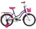 Велосипед 18' NOVATRACK TETRIS фиолетовый+ корзина 181 TETRIS.VL 20